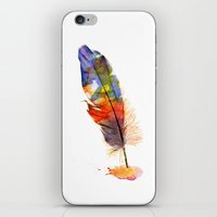 feather iPhone & iPod Skins featuring feather by emegi