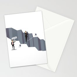 Teamwork Helps Overcome Obstacles Stationery Cards