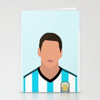 messi Stationery Cards featuring MESSI by Anthony Morell