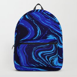 Abstract blue vivid agate slice Backpack