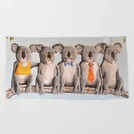 The Five Koalas Beach Towel