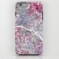 Paris Map iPhone 6s Plus Tough Case