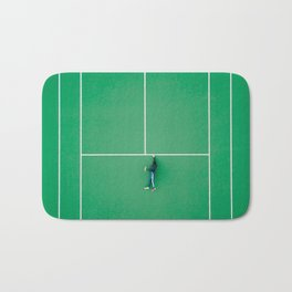 Tennis court green Bath Mat