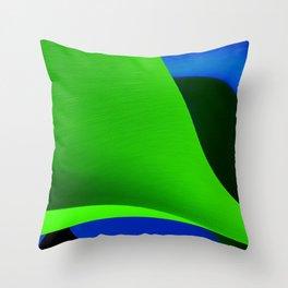 Green Taking Shape Throw Pillow