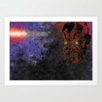 Darth Maul Splatter Art Print