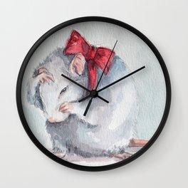 Rat bow Wall Clock