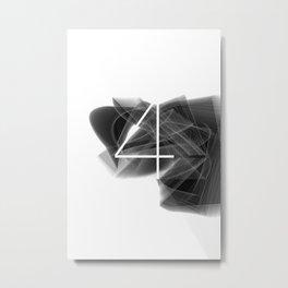 Number 4. Dark Math 4 Metal Print