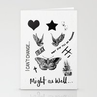 tattoos Stationery Cards featuring Tattoos by Alexbookpages