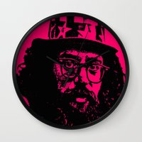 literature Wall Clocks featuring Outlaws of Literature (Allen Ginsberg) by Silvio Ledbetter