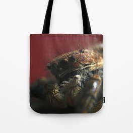 Spider on Red Tote Bag