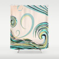 drink Shower Curtains featuring In the Drink by DebS Digs Photo Art