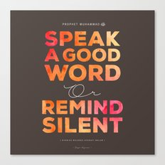 Remind Silent Canvas Print