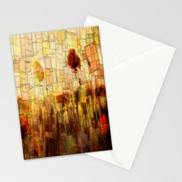 Poppies in the Sun Mosaic Stationery Cards