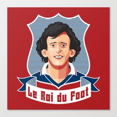Le Roi du foot Canvas Print