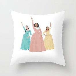 Schuyler Sisters! Throw Pillow