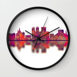 York England Skyline Wall Clock