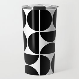 Mid Century Modern Geometric 04 Black Travel Mug