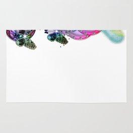 Love Conquers All - White Rainbow Rug