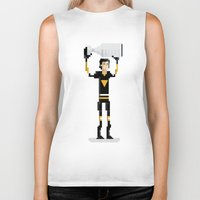 pittsburgh Biker Tanks featuring Pittsburgh Hockey by John Trivelli