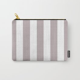 Black Shadows grey - solid color - white vertical lines pattern Carry-All Pouch