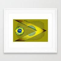 brasil Framed Art Prints featuring Brasil by ilustrarte
