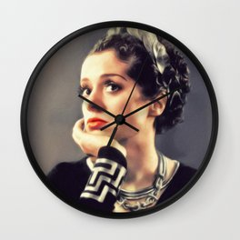 Elsa Lanchester, Vintage Actress Wall Clock