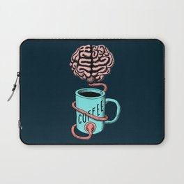 Coffee for the brain. Funny coffee illustration Laptop Sleeve