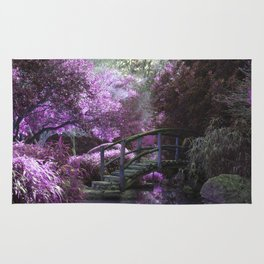 The Bridge Within The Cherry Blossoms Rug