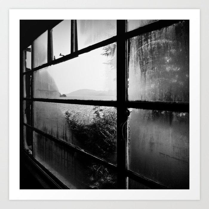 Loch Ness hostel window Art Print