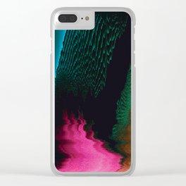 Dreamscape - Glitch Art Clear iPhone Case