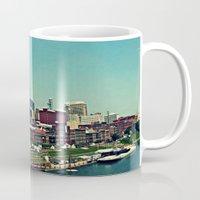nashville Mugs featuring Nashville Skyline by Sydney Smith