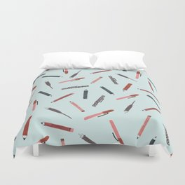 Pens and pencils Duvet Cover