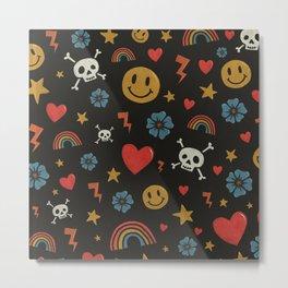 Happy Days Pattern Metal Print