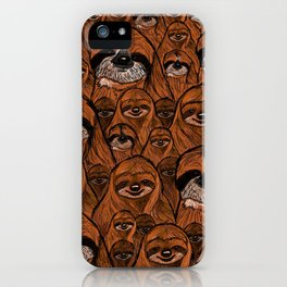 Mountains and mountains of sloths. iPhone Case