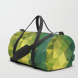 Abstract of triangles polygon in green yellow lime colors Duffle Bag
