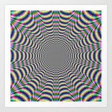 Psychedelic Web Art Print