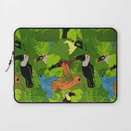 Tropical dawn, birds of paradise Laptop Sleeve