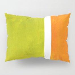Retro Lime Green Minimalist Abstract Color Block Rothko Midcentury Modern Art Pillow Sham