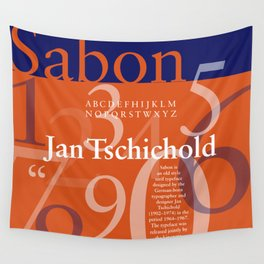 Sabon Typography Poster Wall Tapestry