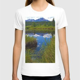 Pyramid Mountain in Jasper National Park, Canada T-shirt