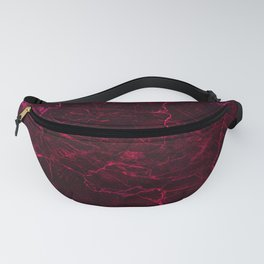 magenta pink stone cracked marble Fanny Pack