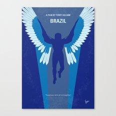 No643 My Brazil minimal movie poster Canvas Print
