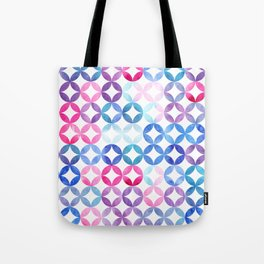 Geometric pattern with petals. Turkish pattern. Tote Bag