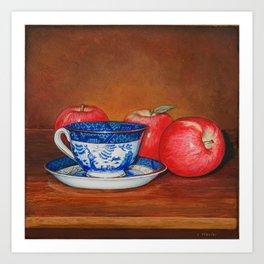 Teacup with Three Apples Art Print