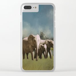 Leaving The Watering Hole Clear iPhone Case