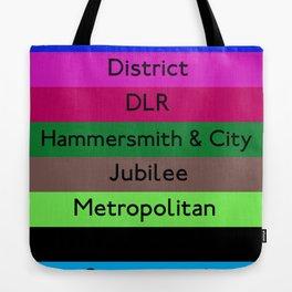 London Underground Tote Bag
