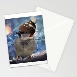 WINTER SPARROW Stationery Cards