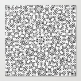 Abstract black and white cell division Canvas Print