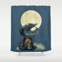 werewolf Shower Curtains featuring Werewolf! by drubskin