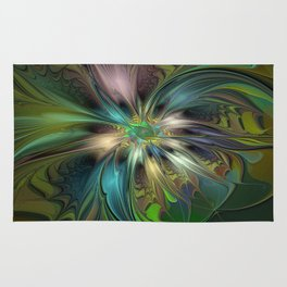 Colorful Abstract Fractal Art Rug
